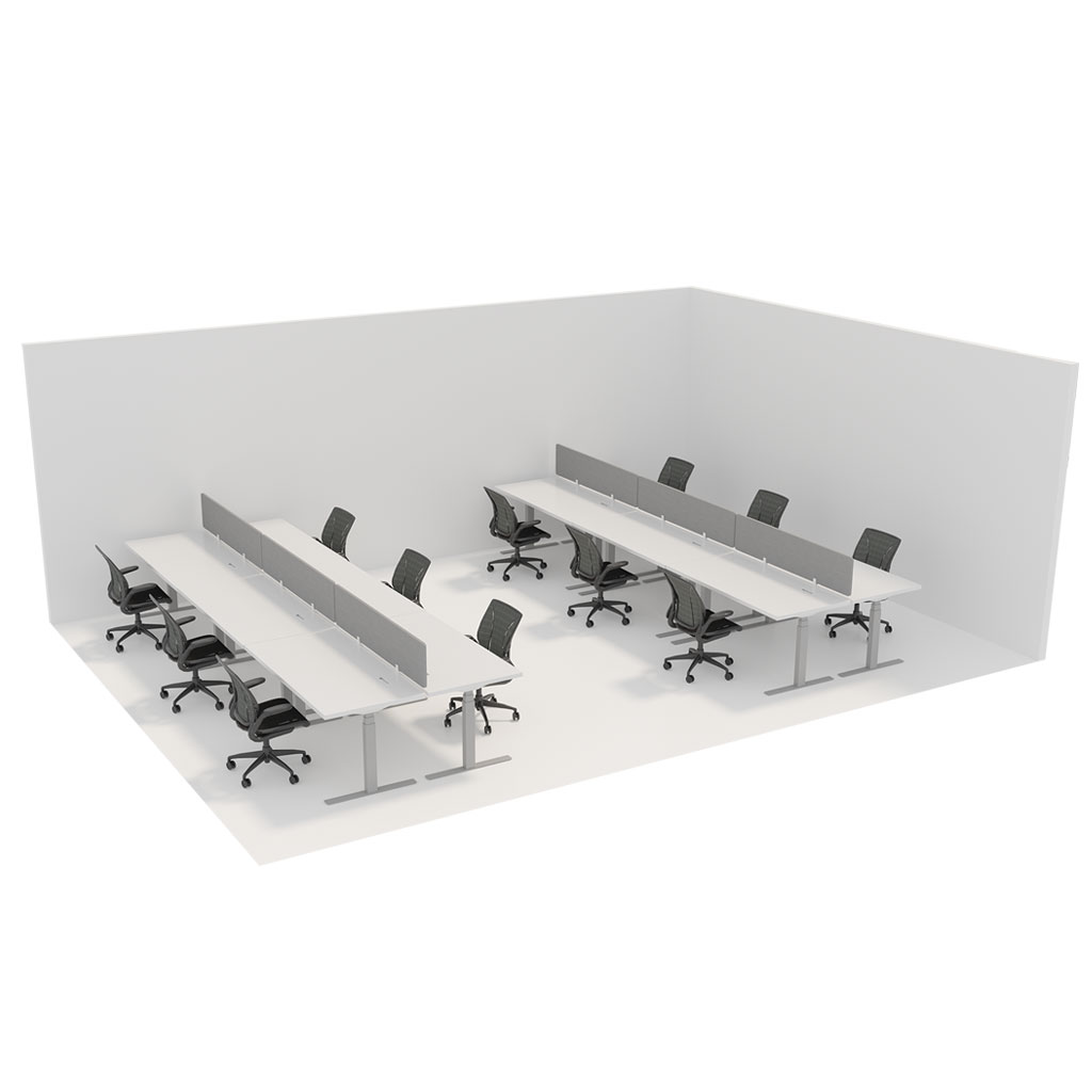Office Plan, WORK STATION 1600mm DESK – PER PERSON
