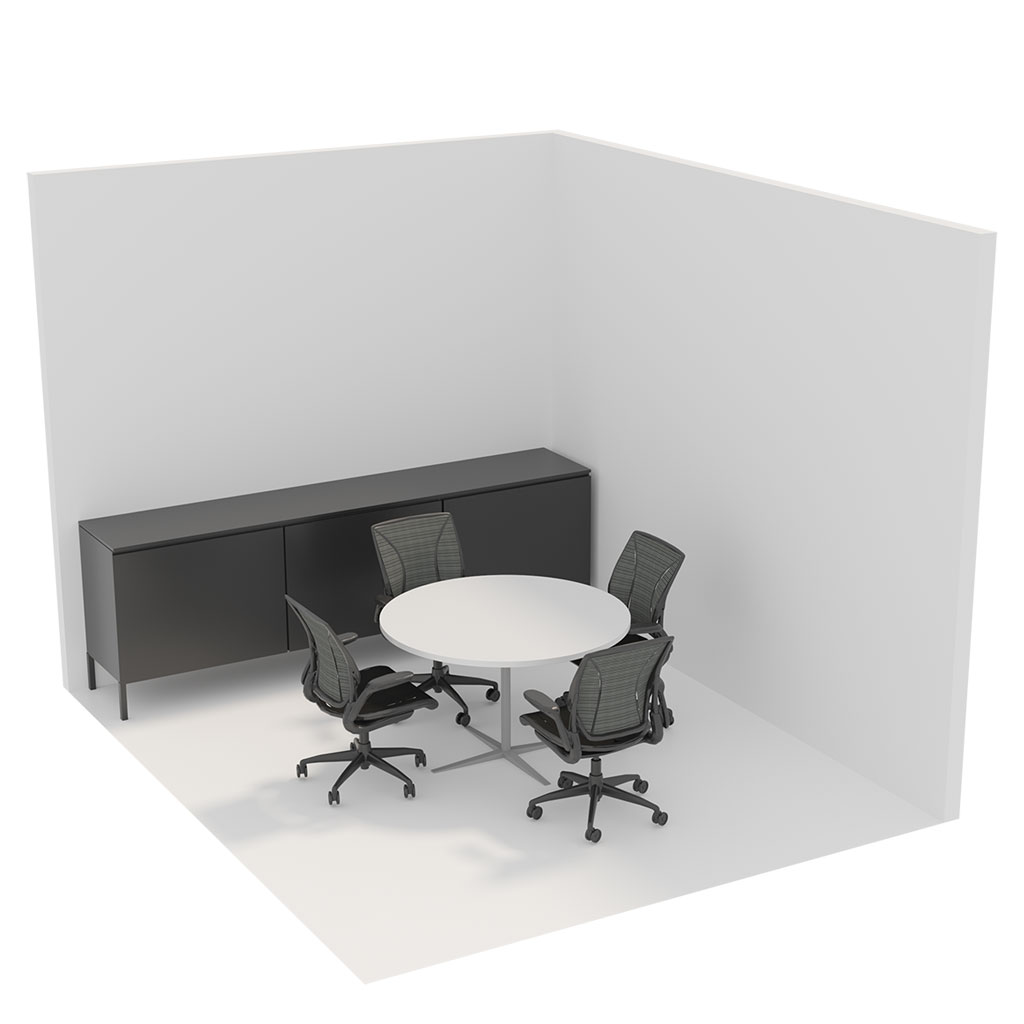 Office Plan, 4 PERSONS MEETING ROOM