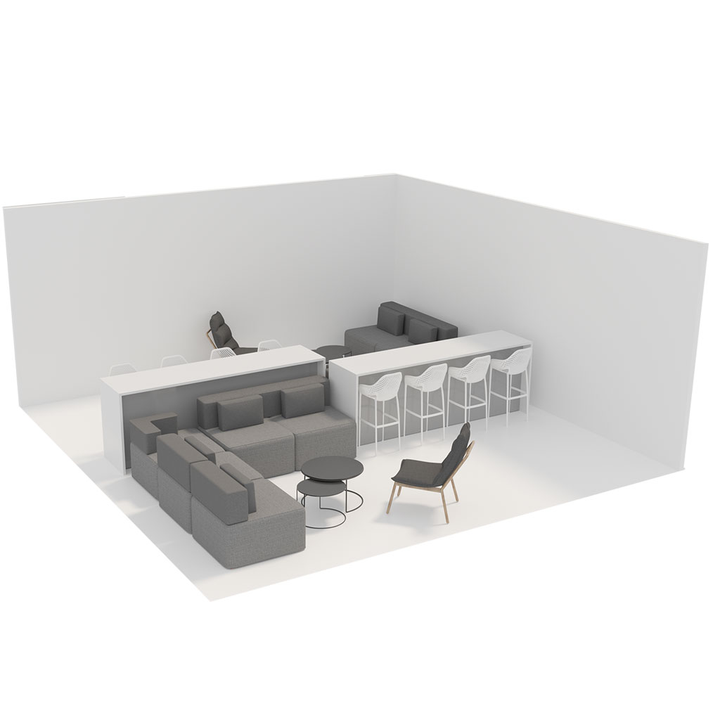 Office Plan, COLLABORATION AREA - MEDIUM
