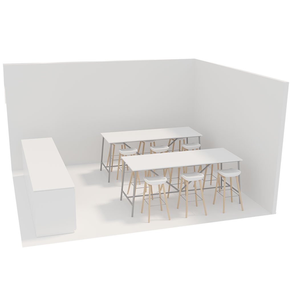 Office Plan, PROJECT TABLE 6 PERSONS