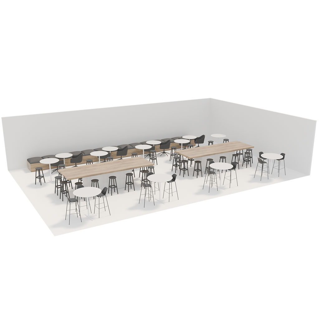 Office Plan, CANTEEN BREAKOUT - LARGE 60 PERSONS