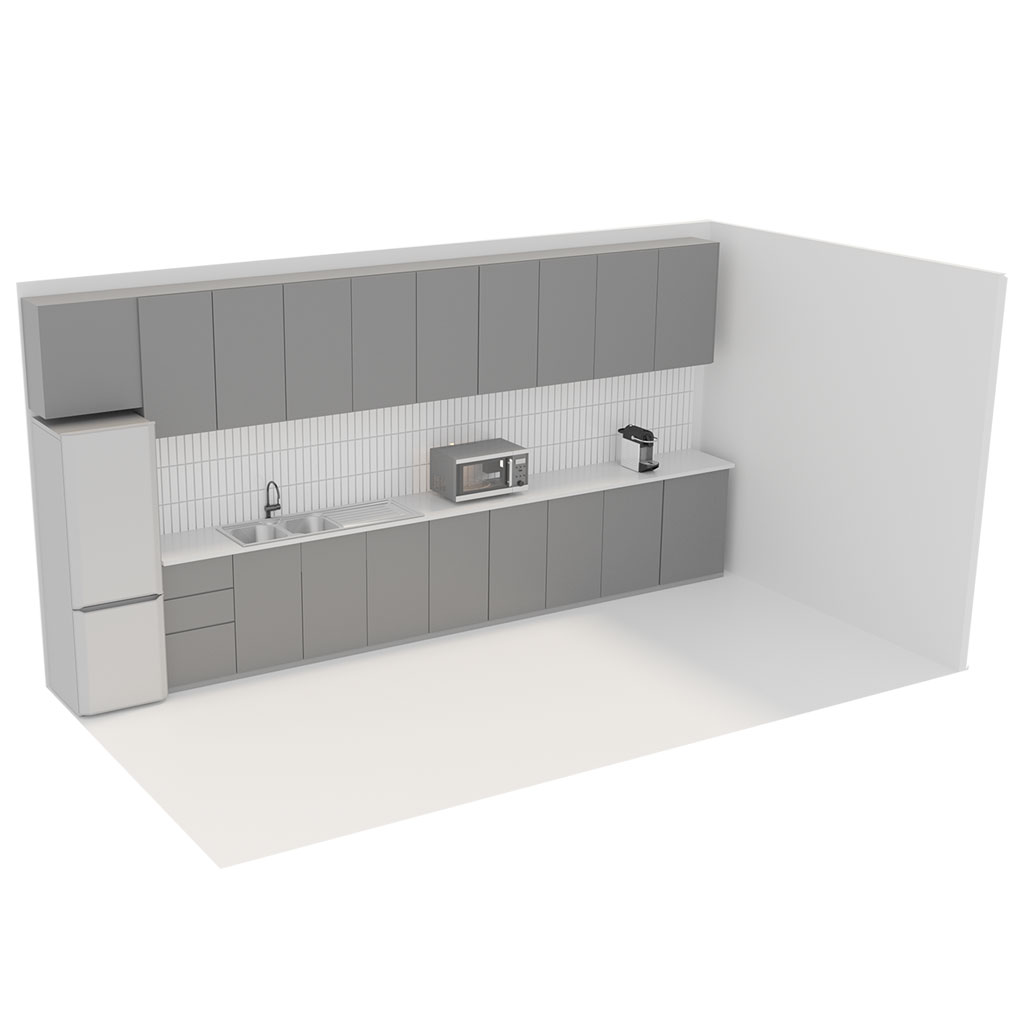 Office Plan, KITCHEN UNIT - MED