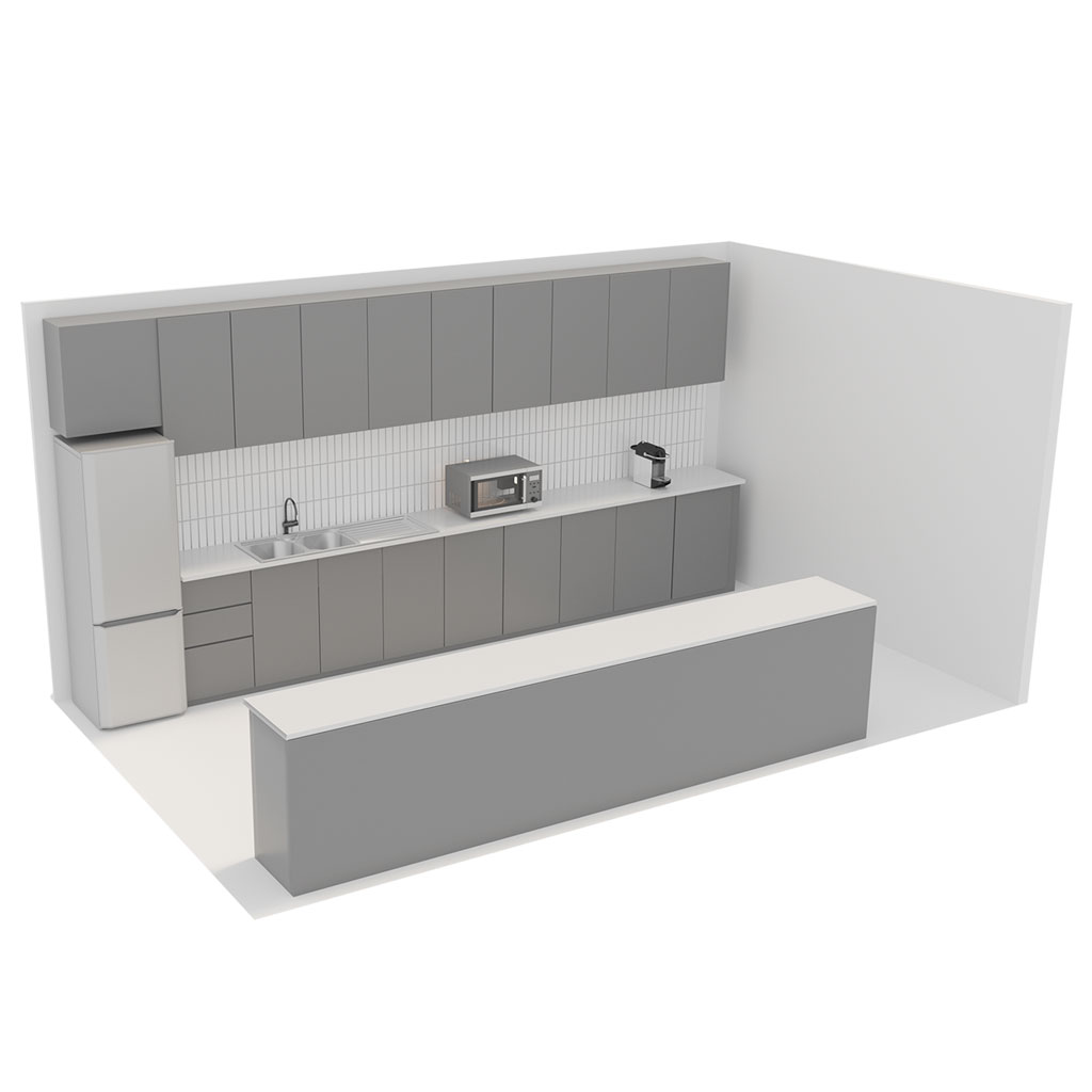 Office Plan, KITCHEN UNIT - LARGE